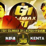 【G1 CLIMAX 31 Aブロック公式戦】矢野通 vs KENTA【9.18エディオン】
