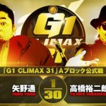 【G1 CLIMAX 31 Aブロック公式戦】矢野通 vs 高橋裕二郎【10.9エディオン】